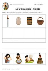 Les artisans gaulois - Exercices : 3eme, 4eme Primaire
