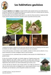 Habitations gauloises - Documentaire - Exercices : 3eme, 4eme Primaire