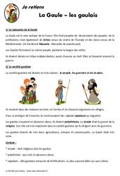 Gaule - Gaulois - Cours, Leçon - Antiquité : 3eme, 4eme Primaire