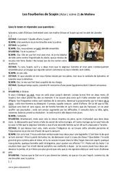 Les Fourberies de Scapin - Lecture - Théâtre : 1ere Secondaire