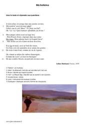 Ma bohème - Poésie - Lecture : 1ere Secondaire