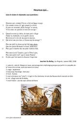 Heureux qui, comme Ulysse - Poésie - Lecture : 1ere Secondaire