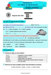 Les sigles et abréviations - Soutien scolaire pour les élèves en difficulté. : 4eme Primaire