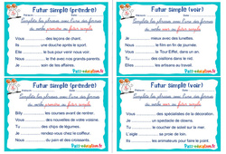 Futur simple (prendre et voir) - Rituels - Conjugaison : 2eme, 3eme Primaire