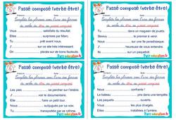 Passé composé (verbe être) - Rituels - Conjugaison : 2eme, 3eme Primaire