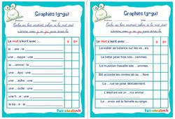 Graphies (g - gu) - Rituels - Phonologie : 2eme, 3eme Primaire