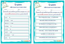 Graphies (elle - enne - erre - esse - ette) - Rituels - Phonologie : 2eme, 3eme Primaire