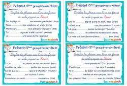 Présent ( groupe - avoir - être) - Rituels - Conjugaison : 4eme, 5eme Primaire