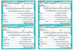 Passé composé - verbes 3e groupe (avoir et être) - Rituels - Conjugaison : 4eme, 5eme Primaire