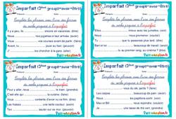 Imparfait ( groupe - avoir - être) - Rituels - Conjugaison : 4eme, 5eme Primaire