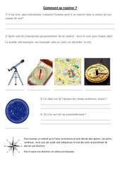 Comment se repérer - Boussole - Exercices - Sciences : 3eme, 4eme Primaire