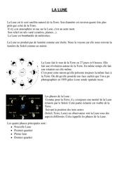 Lune - Cours, Leçon - Sciences : 4eme, 5eme Primaire