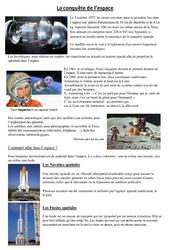 Conquête de l'espace - Exercices - Sciences : 4eme, 5eme Primaire
