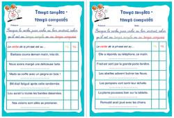 Temps simples - temps composés - Rituels - Conjugaison : 4eme, 5eme Primaire