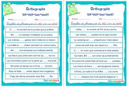 Homophones grammaticaux (et - est - son - sont) - Rituels - Orthographe : 4eme, 5eme Primaire