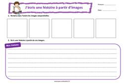 Chambre en désordre - Images séquentielles - Production d'écrit - Rédaction : 3eme, 4eme Primaire