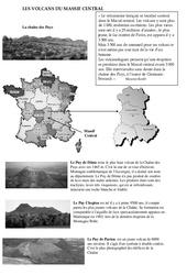 Volcans du massif central - Cours, Leçon - Sciences : 5eme Primaire