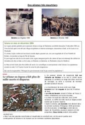 Des séismes très meurtriers - Exercices - Sciences : 5eme Primaire