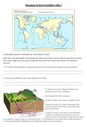 Pourquoi la terre tremble t'elle - Exercices - Sciences : 5eme Primaire