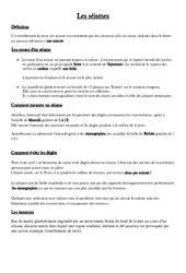 Séismes - Cours, Leçon - Sciences : 5eme Primaire