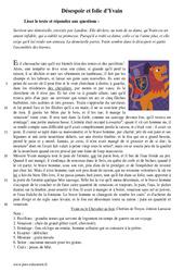 Désespoir et folie d'Yvain - Récit - Lecture : 1ere Secondaire