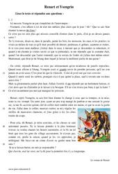 Renart et Ysengrin - Récit - Lecture : 1ere Secondaire