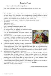 Renart et l'ours - Récit - Lecture - Le roman de Renart : 1ere Secondaire