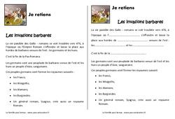 Invasions barbares - Cours, Leçon : 4eme Primaire