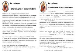 Charlemagne et les carolingiens - Cours, Leçon : 4eme Primaire