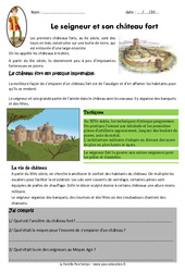 Le seigneur et son château fort - Exercices - Documentaire : 4eme Primaire