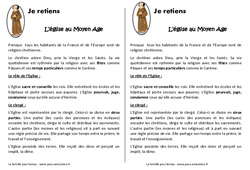 Eglise au Moyen Age - Cours, Leçon : 4eme Primaire