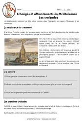 Croisades - Affrontements en Méditerranée - Exercices - Documentaire : 4eme Primaire