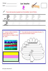 Boucles - Fichier graphisme : 1ere, 2eme, 3eme Maternelle - Cycle Fondamental