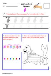 Boucles à l'envers - Fichier graphisme : 1ere, 2eme, 3eme Maternelle - Cycle Fondamental