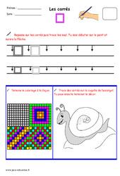 Carrés - Fichier graphisme : 1ere, 2eme, 3eme Maternelle - Cycle Fondamental