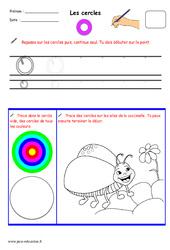 Cercles - Fichier graphisme : 1ere, 2eme, 3eme Maternelle - Cycle Fondamental