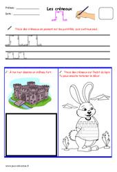 Créneaux - Fichier graphisme : 1ere, 2eme, 3eme Maternelle - Cycle Fondamental