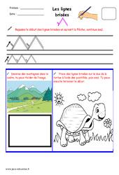 Lignes brisées - Fichier graphisme : 1ere, 2eme, 3eme Maternelle - Cycle Fondamental