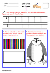 Lignes verticales - Fichier graphisme : 1ere, 2eme, 3eme Maternelle - Cycle Fondamental