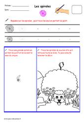Spirales - Fichier graphisme : 1ere, 2eme, 3eme Maternelle - Cycle Fondamental