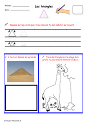 Triangles - Fichier graphisme : 1ere, 2eme, 3eme Maternelle - Cycle Fondamental