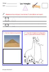 Triangles - Fichier graphisme : 1ere, 2eme, 3eme Maternelle - Cycle Fondamental