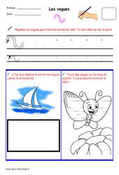 Vagues - Fichier graphisme : 1ere, 2eme, 3eme Maternelle - Cycle Fondamental