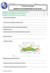 Caractéristiques d'un lieu de vie - Examen Evaluation : 4eme Primaire