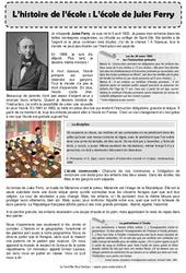 Ecole de Jules Ferry - Exercices : 5eme Primaire