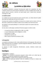 La société au XIXe siècle - Cours, Leçon : 5eme Primaire