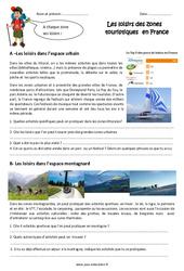 Loisirs en zone touristique - Exercices : 4eme Primaire