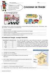 Consommer de l'énergie - Exercices : 4eme Primaire