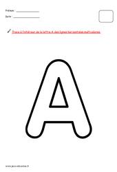 Alphabet en maternelle - Décorer chaque lettre avec une consigne différente : 1ere, 2eme, 3eme Maternelle - Cycle Fondamental