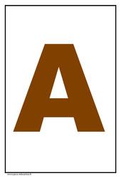 Alphabet - Lettre d'imprimerie - Affichage en couleur : 1ere, 2eme, 3eme Maternelle - Cycle Fondamental